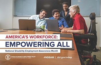2018 National Disability Employment Awareness Month Poster Image