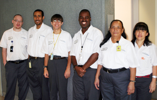 Six Didlake custodial employees were recognized for outstanding service at the Defense Logistics Agency