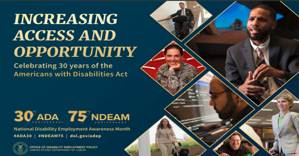National Disability Employment Awareness Month (NDEAM) Poster for October 2020 Celebration