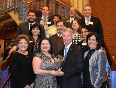 Didlake Employees and City of Manassas City Council Members pictured with Business Award for 2020