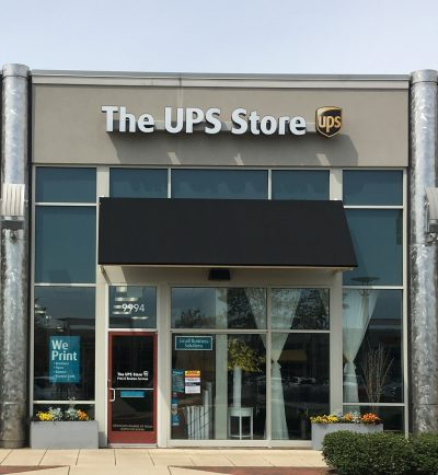 Entrance of The UPS Store 6631 at Center at Innovation