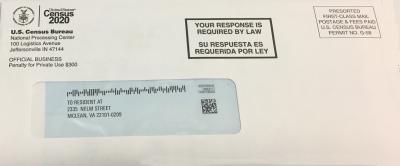 Envelope for the 2020 U.S. Census.